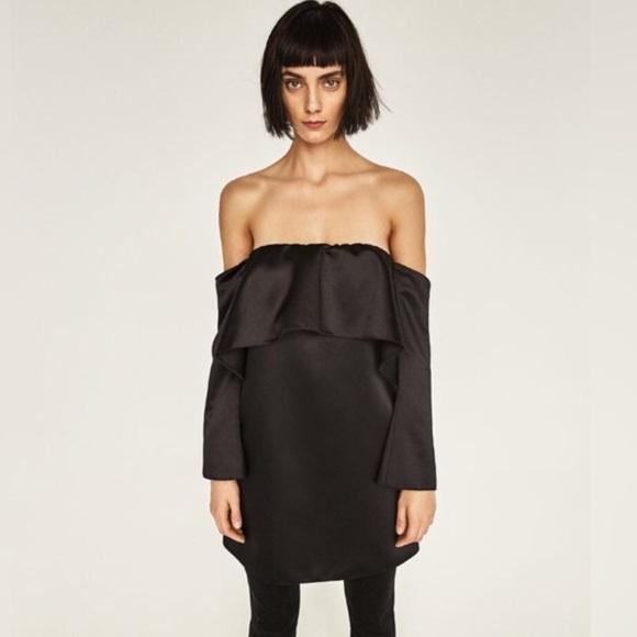 e64fe811d9960 Off the shoulder silk Zara dress tunic. M 5a57d43500450fc15302e2c1